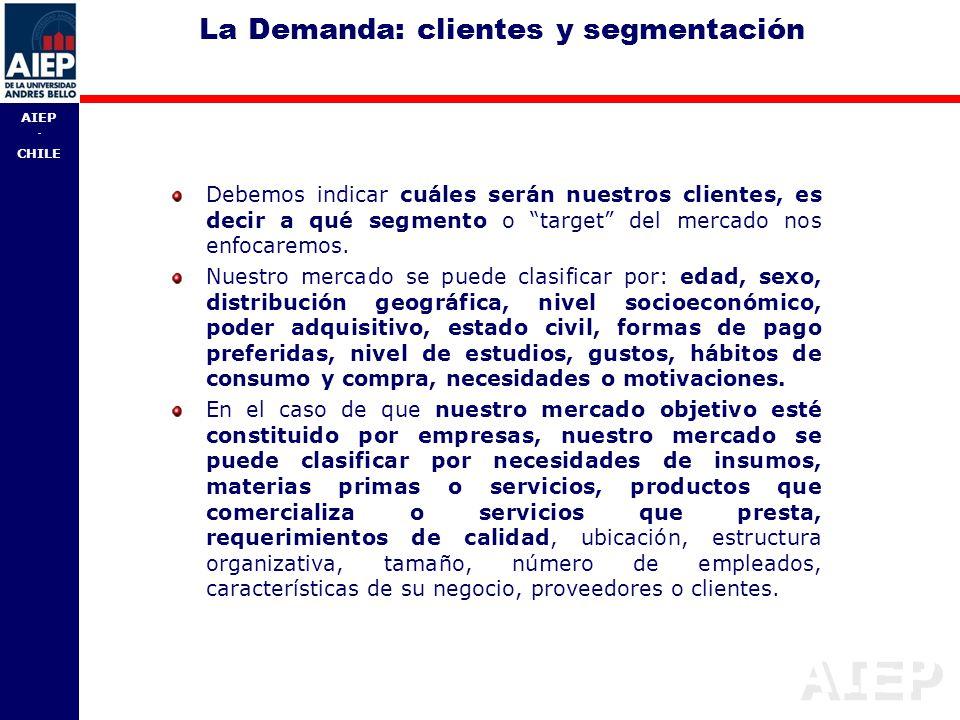 La Demanda: clientes y segmentación