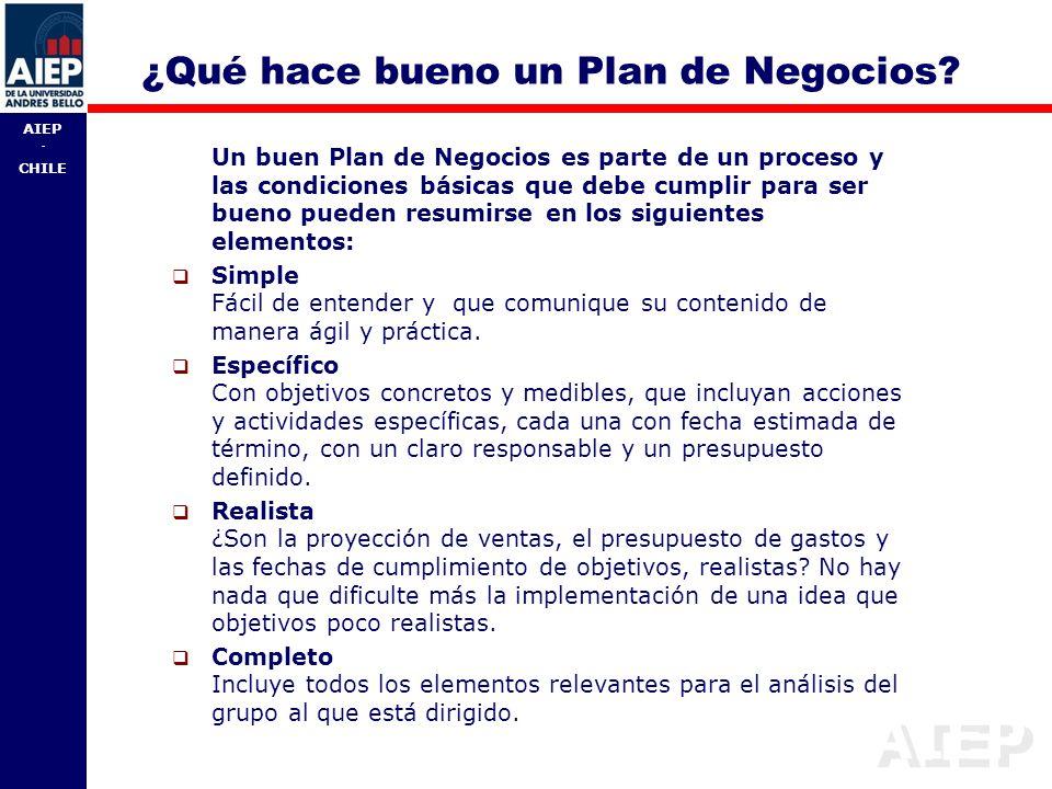 ¿Qué hace bueno un Plan de Negocios