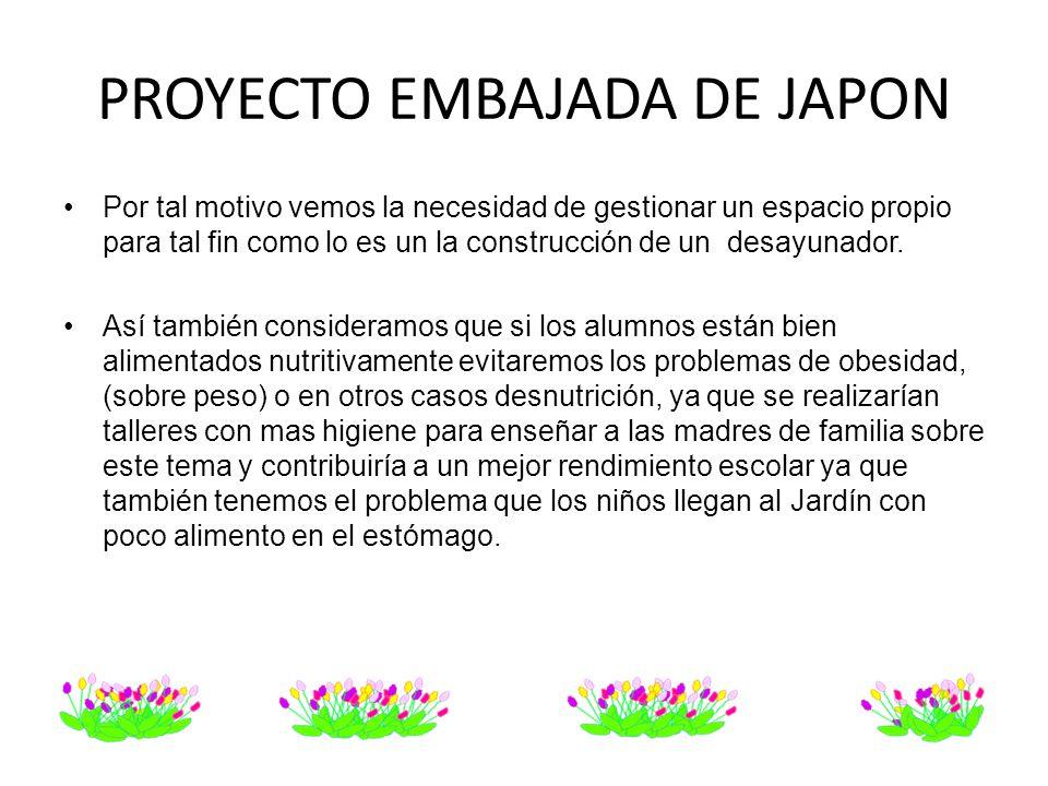 PROYECTO EMBAJADA DE JAPON
