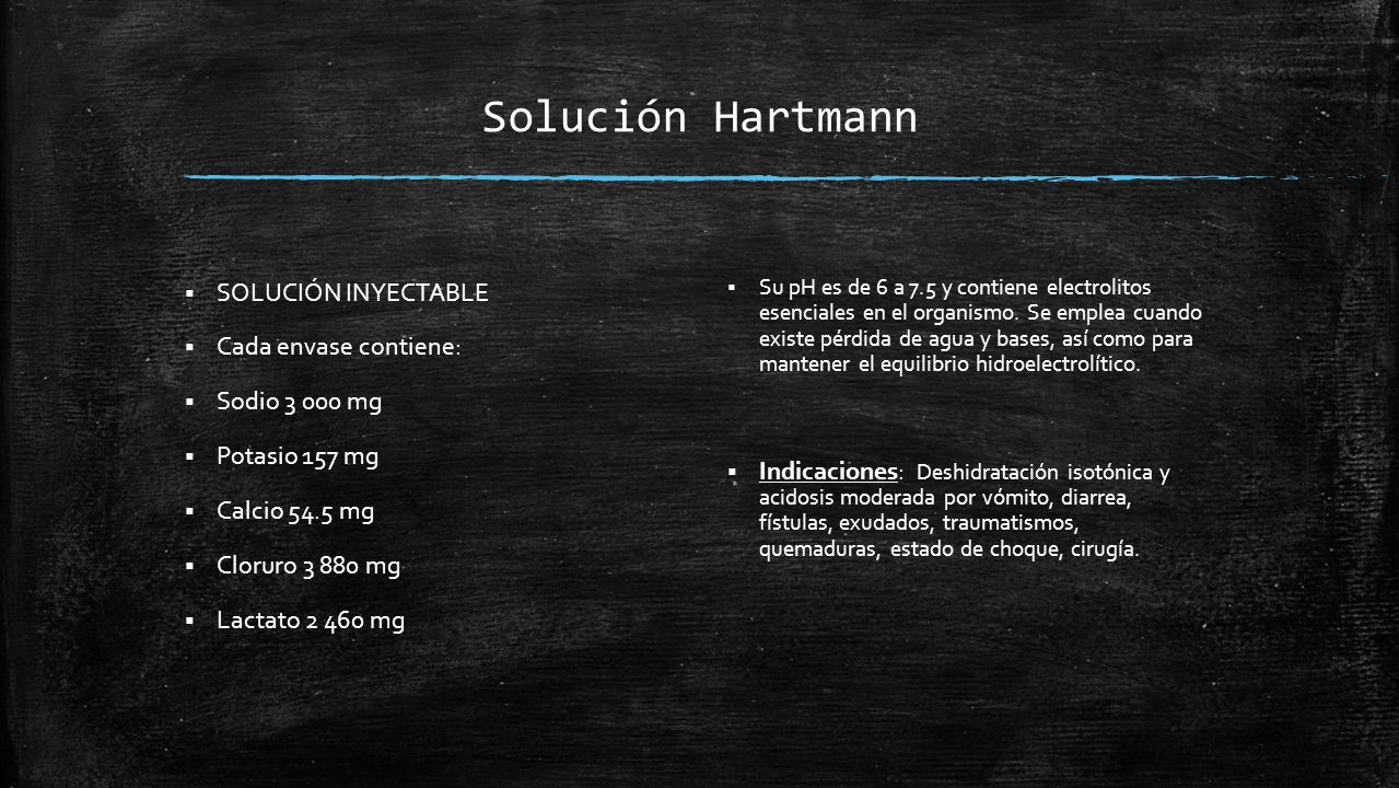 Solución Hartmann SOLUCIÓN INYECTABLE Cada envase contiene: