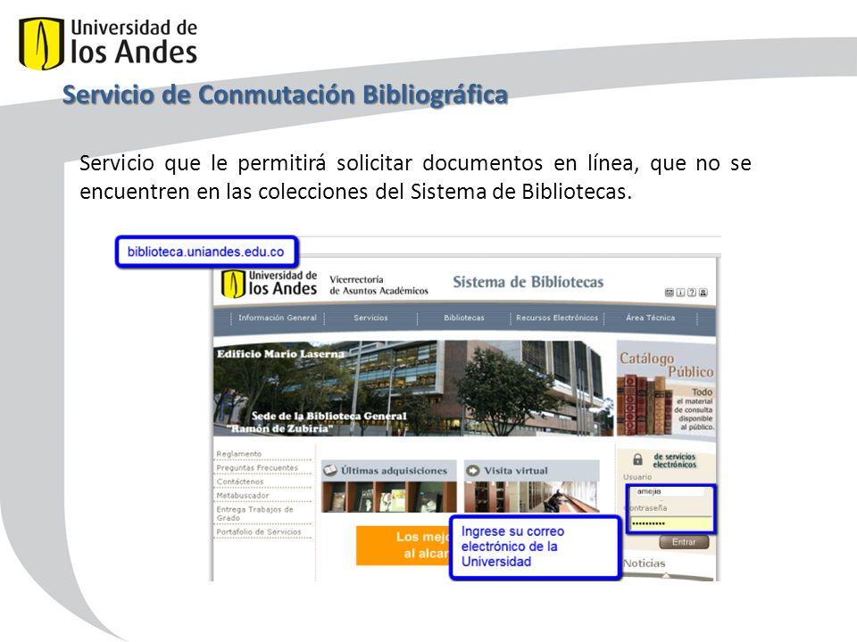 Servicio de Conmutación Bibliográfica