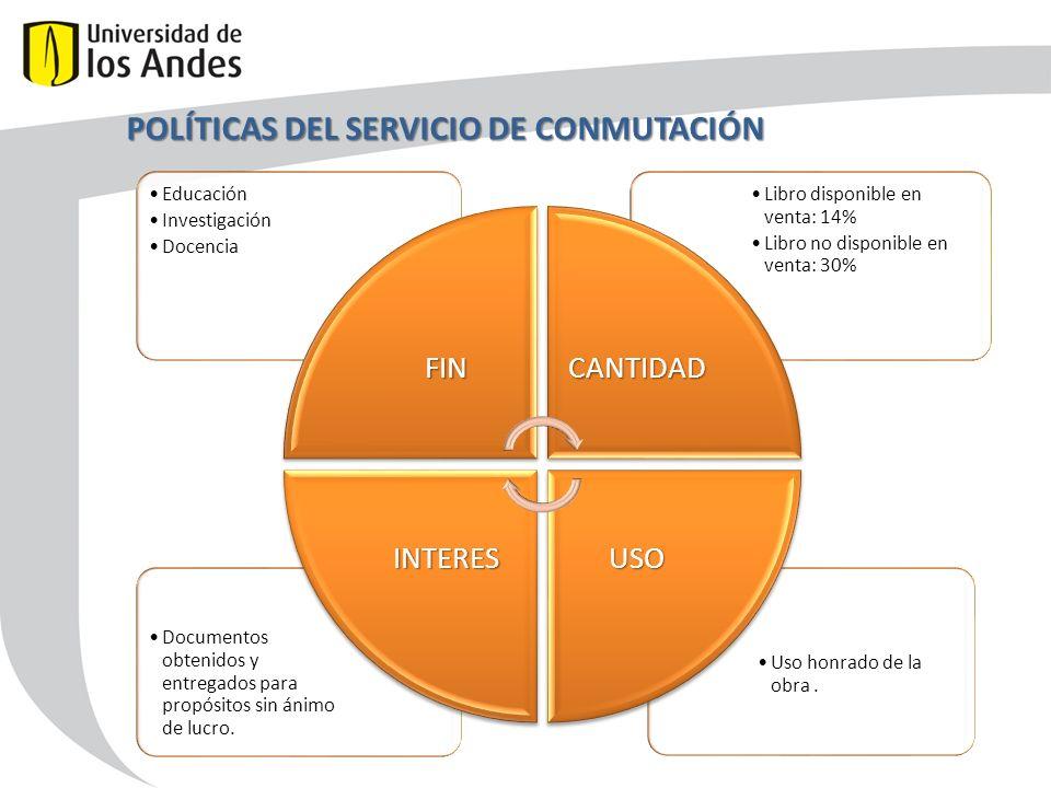 POLÍTICAS DEL SERVICIO DE CONMUTACIÓN