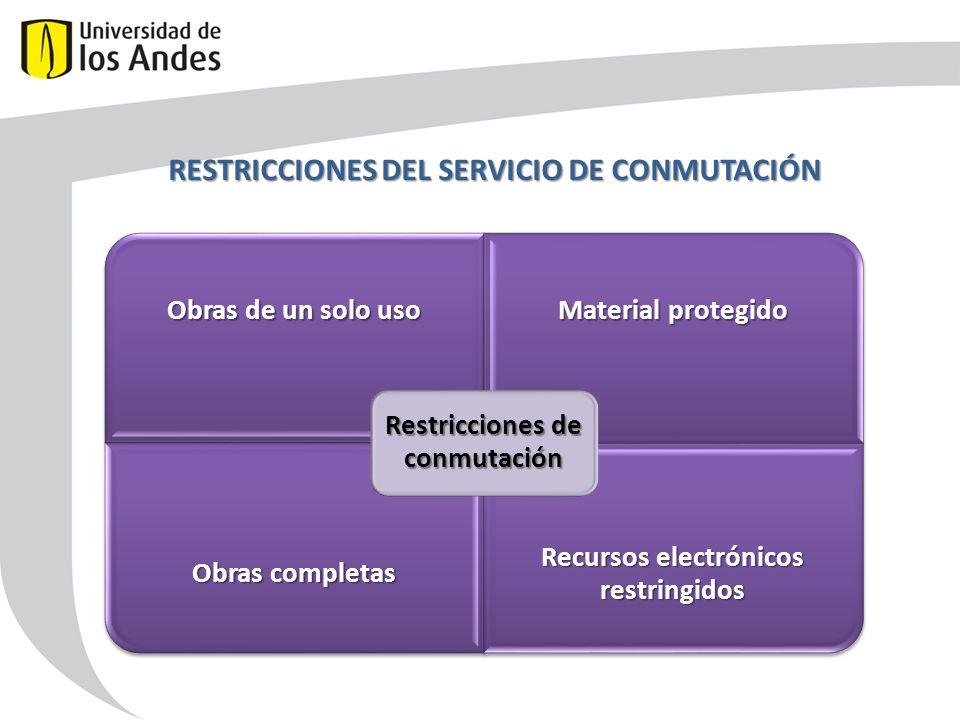 RESTRICCIONES DEL SERVICIO DE CONMUTACIÓN