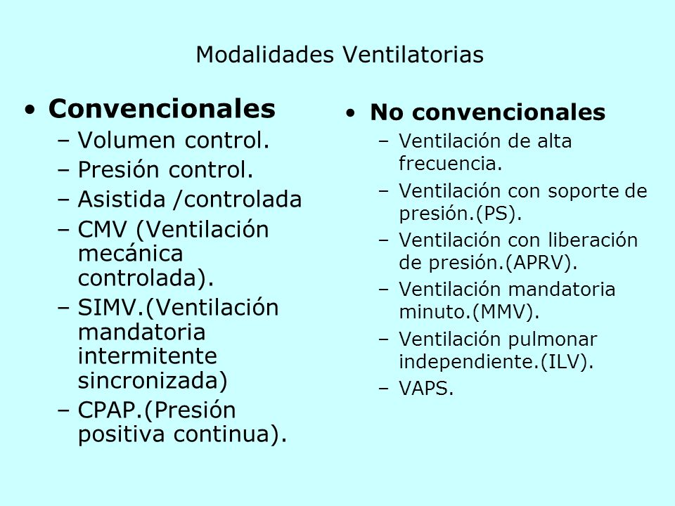Ventilaci n mec nica ppt descargar - Ventilacion mecanica controlada ...