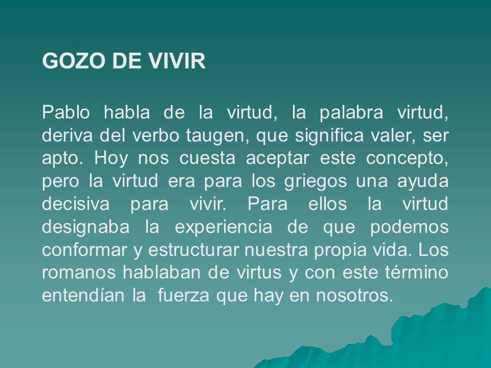 GOZO DE VIVIR