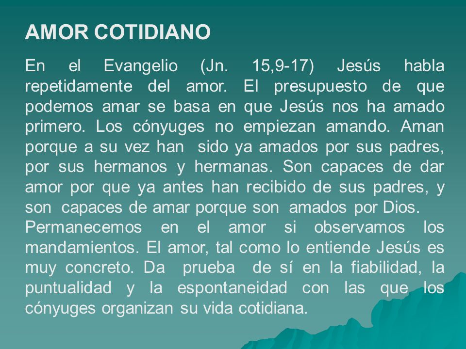 AMOR COTIDIANO