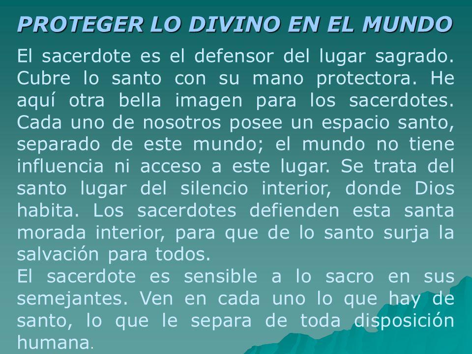 PROTEGER LO DIVINO EN EL MUNDO