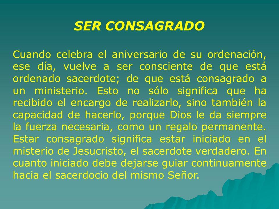 SER CONSAGRADO
