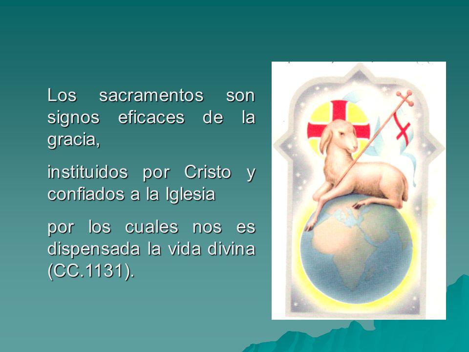 Los sacramentos son signos eficaces de la gracia,