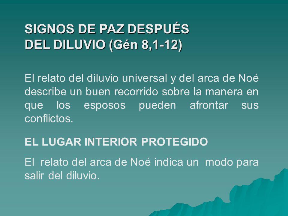 SIGNOS DE PAZ DESPUÉS DEL DILUVIO (Gén 8,1-12)