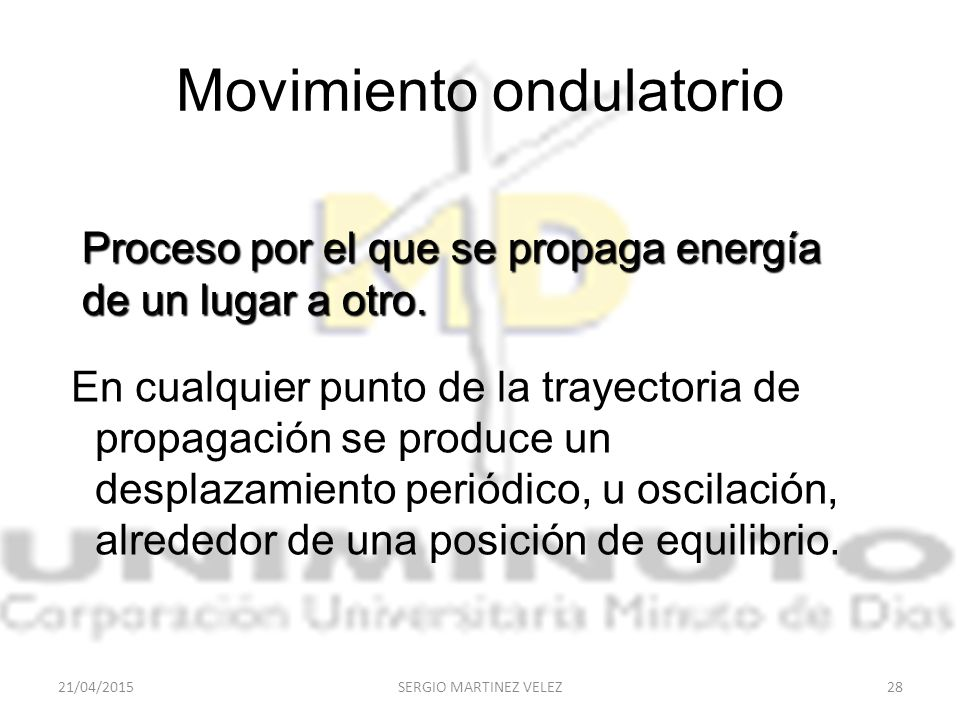 Movimiento ondulatorio
