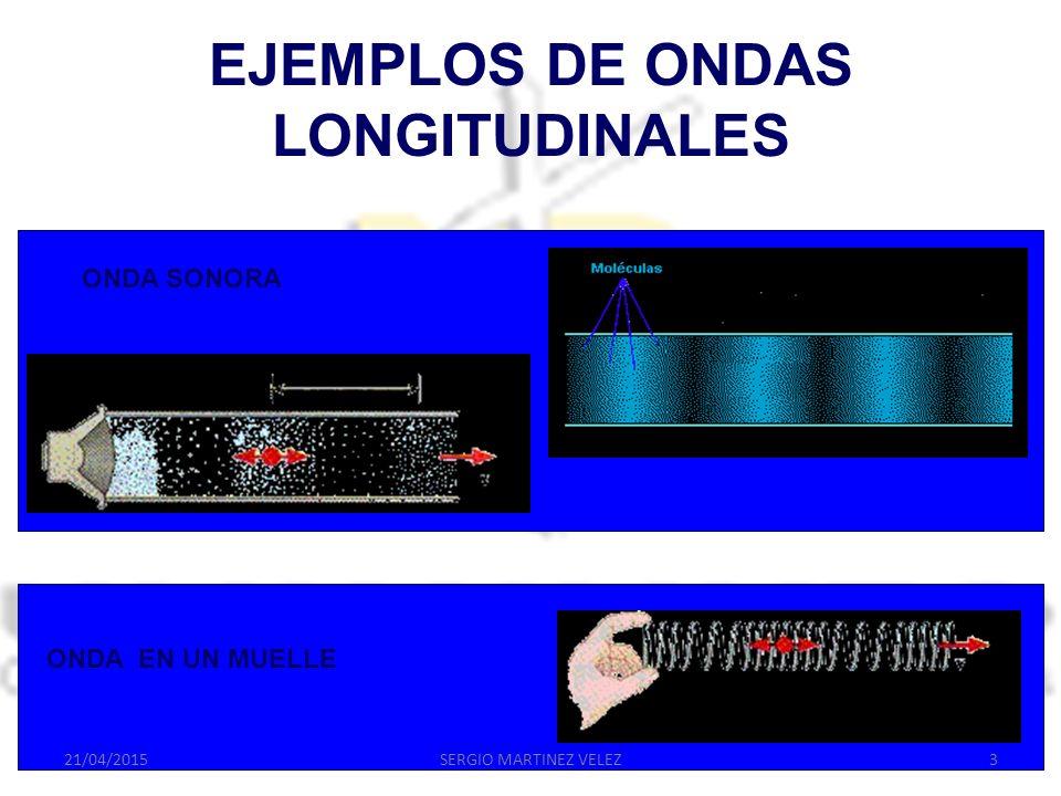 EJEMPLOS DE ONDAS LONGITUDINALES