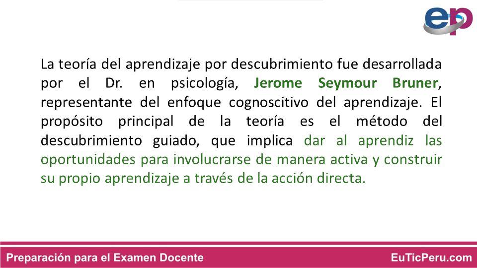 La teoría del aprendizaje por descubrimiento fue desarrollada por el Dr.