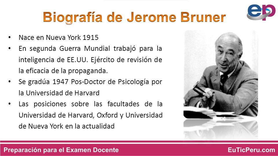 Biografía de Jerome Bruner