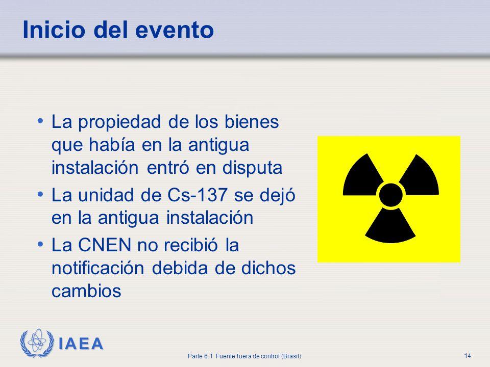 Inicio del evento La propiedad de los bienes que había en la antigua instalación entró en disputa.