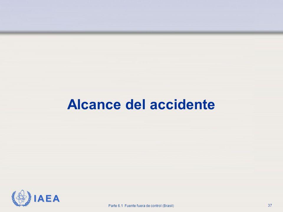 Alcance del accidente Empezando con esta diapositiva, la atención se centra en el estudio de la magnitud del evento.