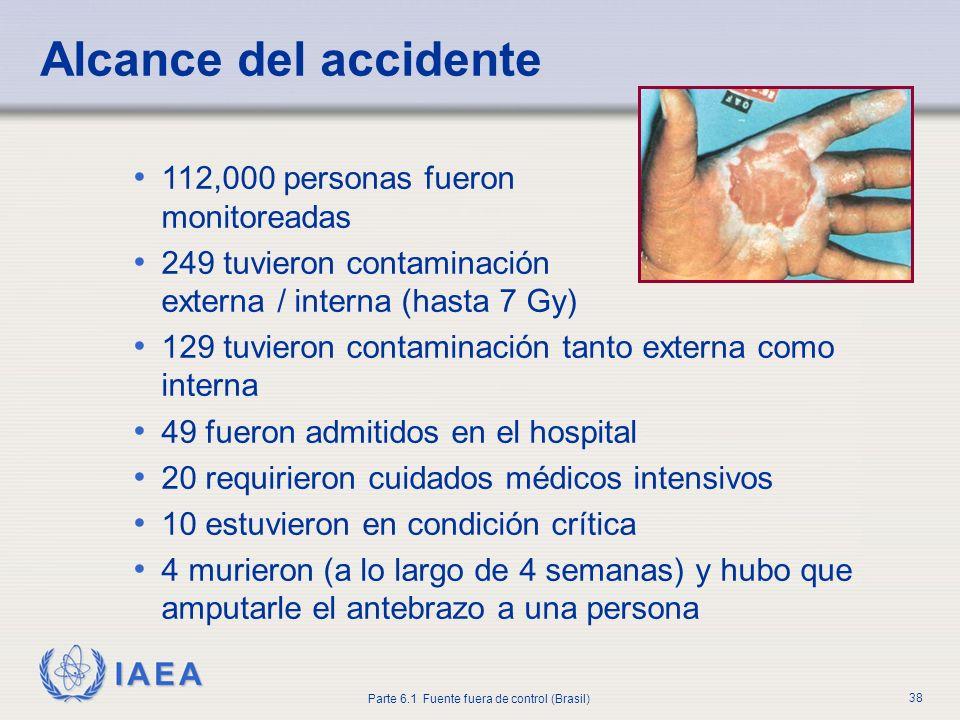 Alcance del accidente 112,000 personas fueron monitoreadas