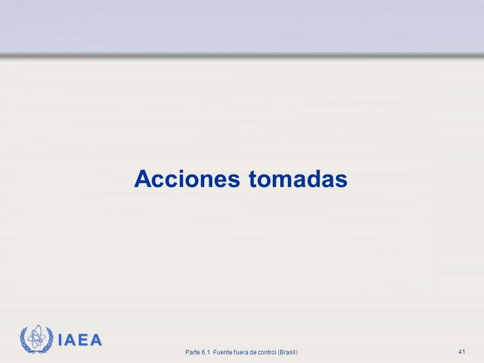 Acciones tomadasA partir de esta diapositiva, se presentan las acciones tomadas en respuesta al accidente.