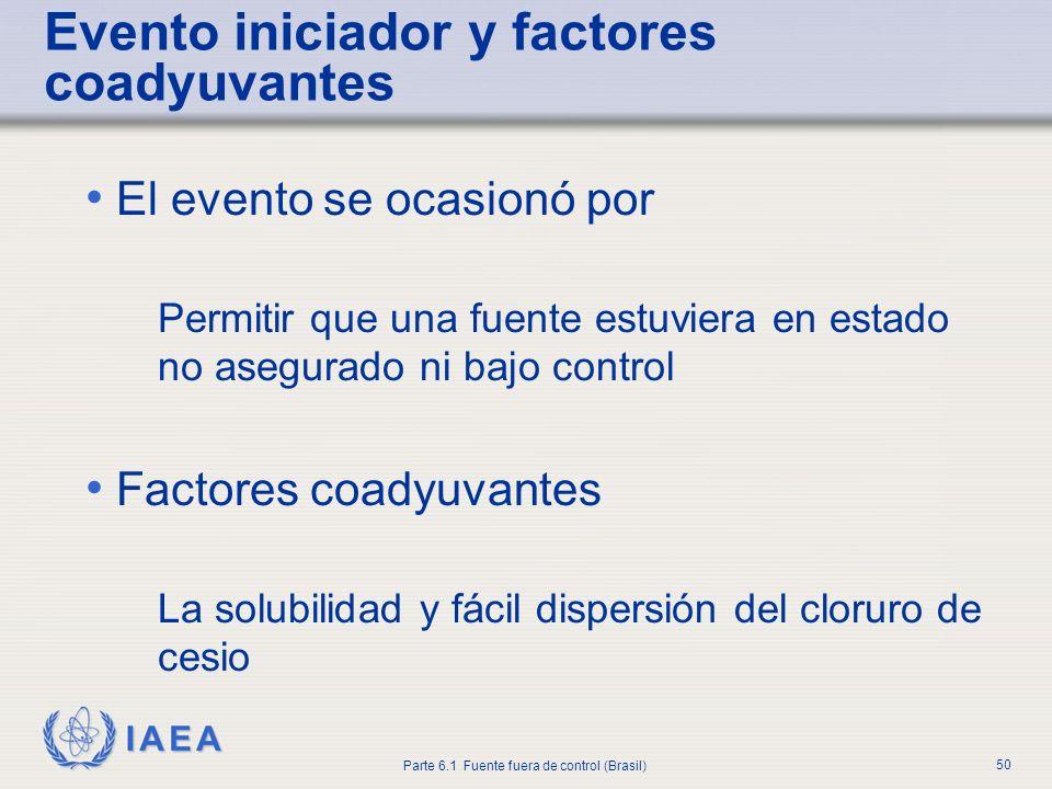 Evento iniciador y factores coadyuvantes