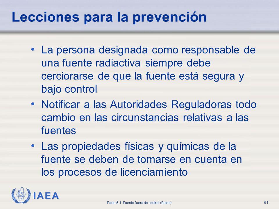 Lecciones para la prevención