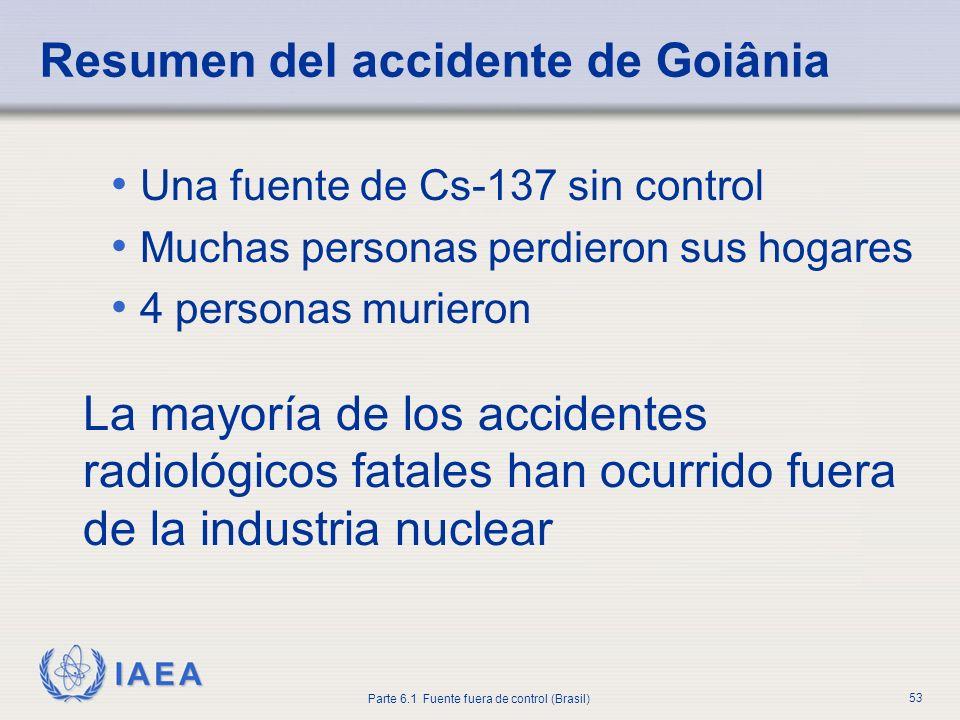 Resumen del accidente de Goiânia