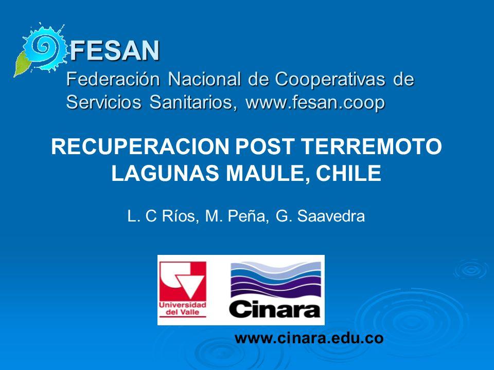 RECUPERACION POST TERREMOTO LAGUNAS MAULE, CHILE