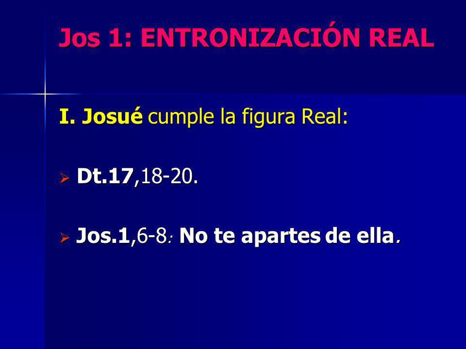 Jos 1: ENTRONIZACIÓN REAL