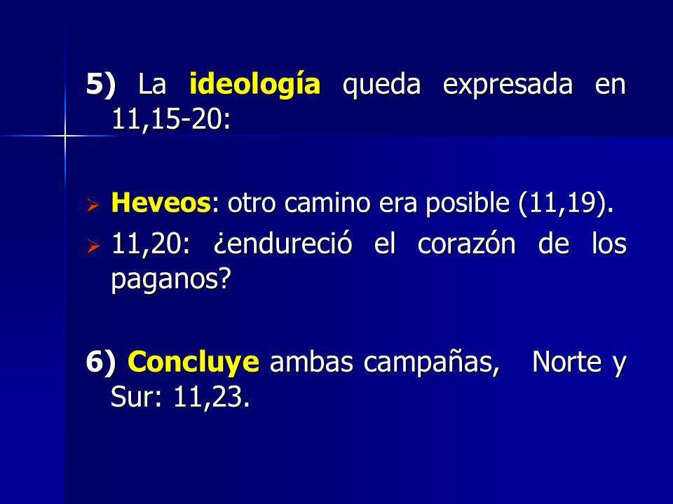 5) La ideología queda expresada en 11,15-20: