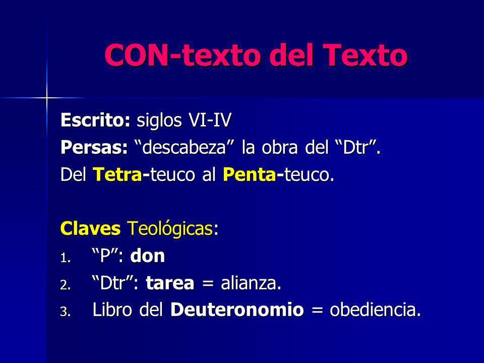 CON-texto del Texto Escrito: siglos VI-IV