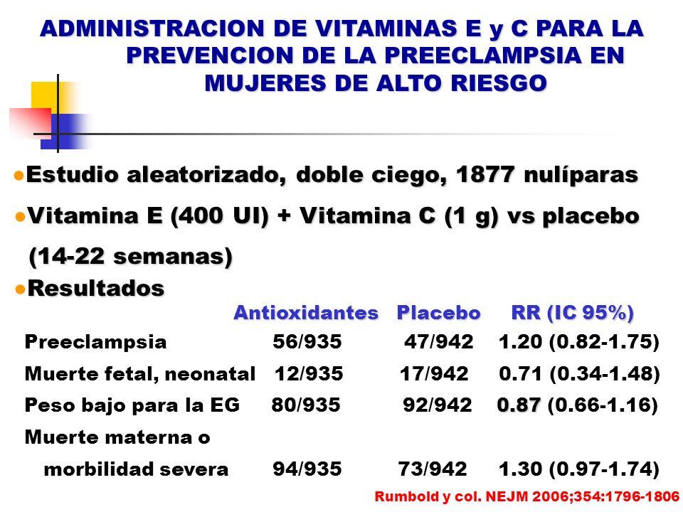 ADMINISTRACION DE VITAMINAS E y C PARA LA