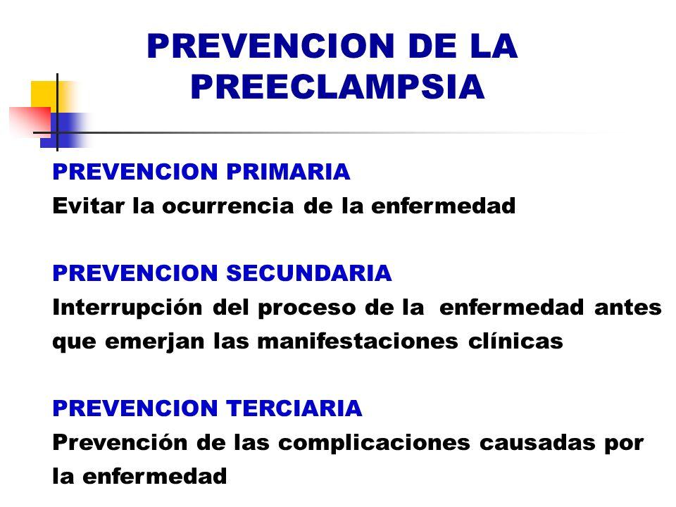 PREVENCION DE LA PREECLAMPSIA