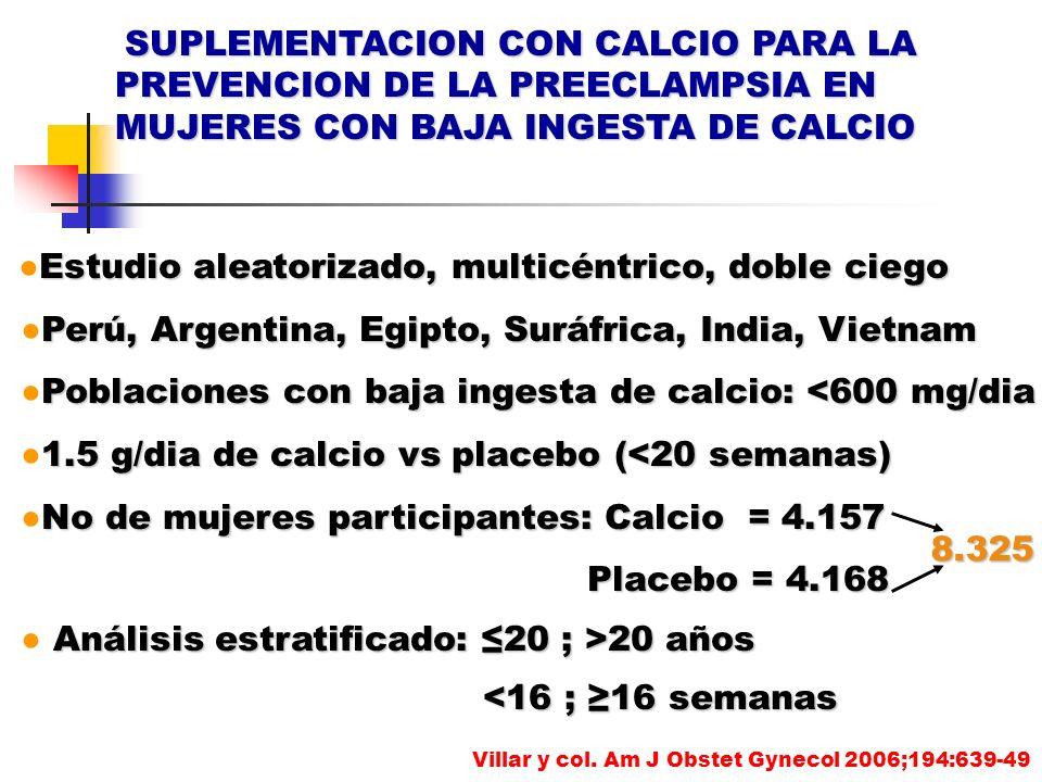 SUPLEMENTACION CON CALCIO PARA LA