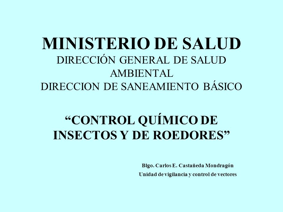 Blgo. Carlos E. Castañeda Mondragón