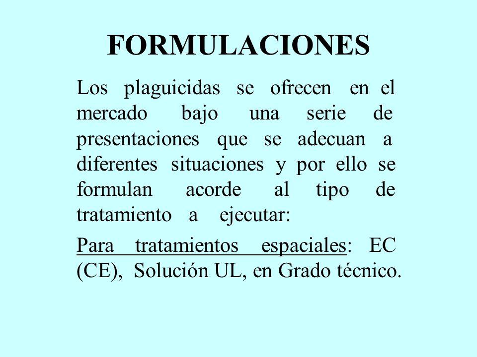 FORMULACIONES