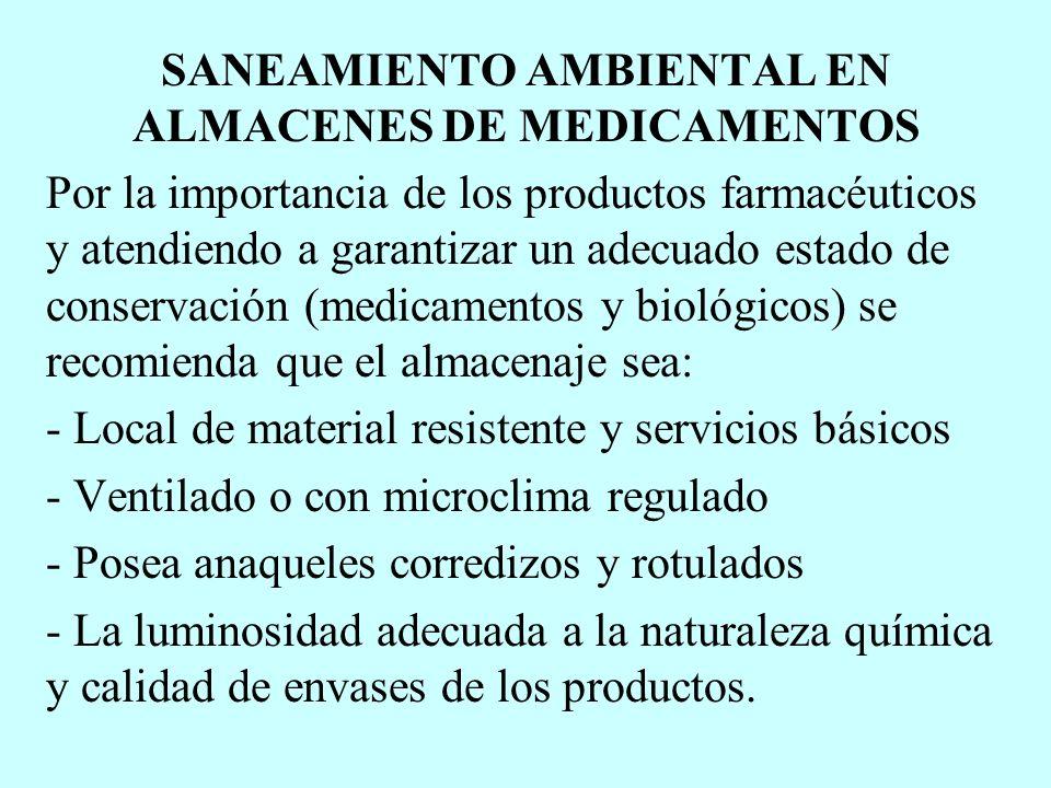 SANEAMIENTO AMBIENTAL EN ALMACENES DE MEDICAMENTOS