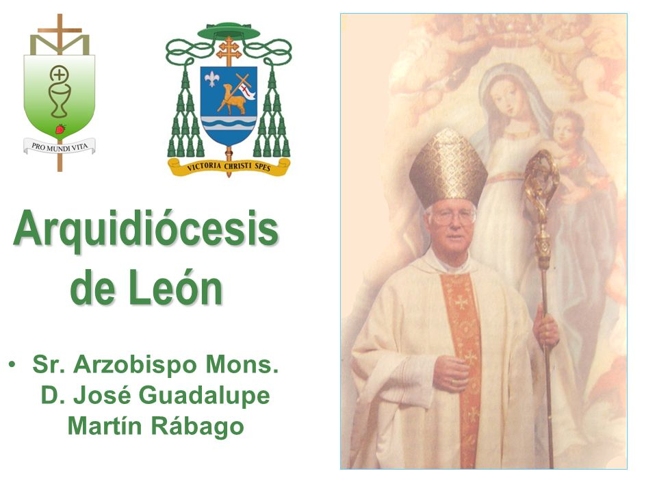 Sr. Arzobispo Mons. D. José Guadalupe Martín Rábago