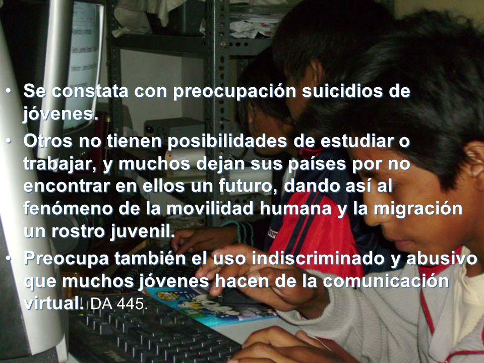 Se constata con preocupación suicidios de jóvenes.