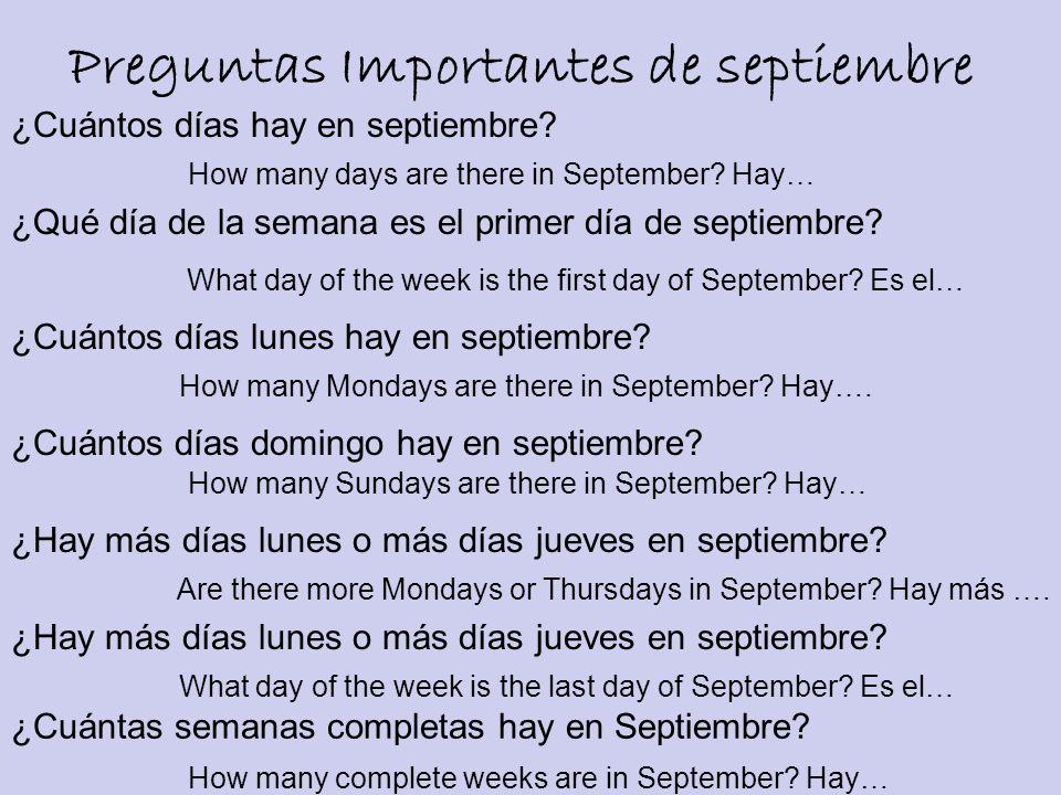Preguntas Importantes de septiembre