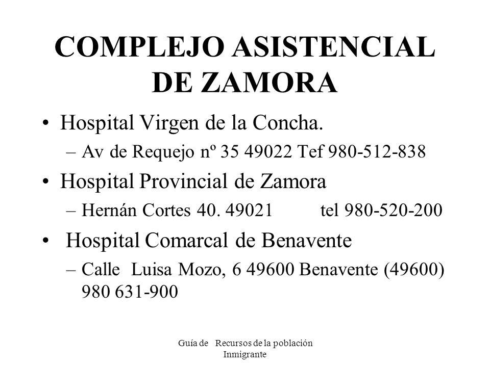 COMPLEJO ASISTENCIAL DE ZAMORA