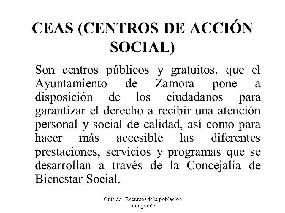 CEAS (CENTROS DE ACCIÓN SOCIAL)