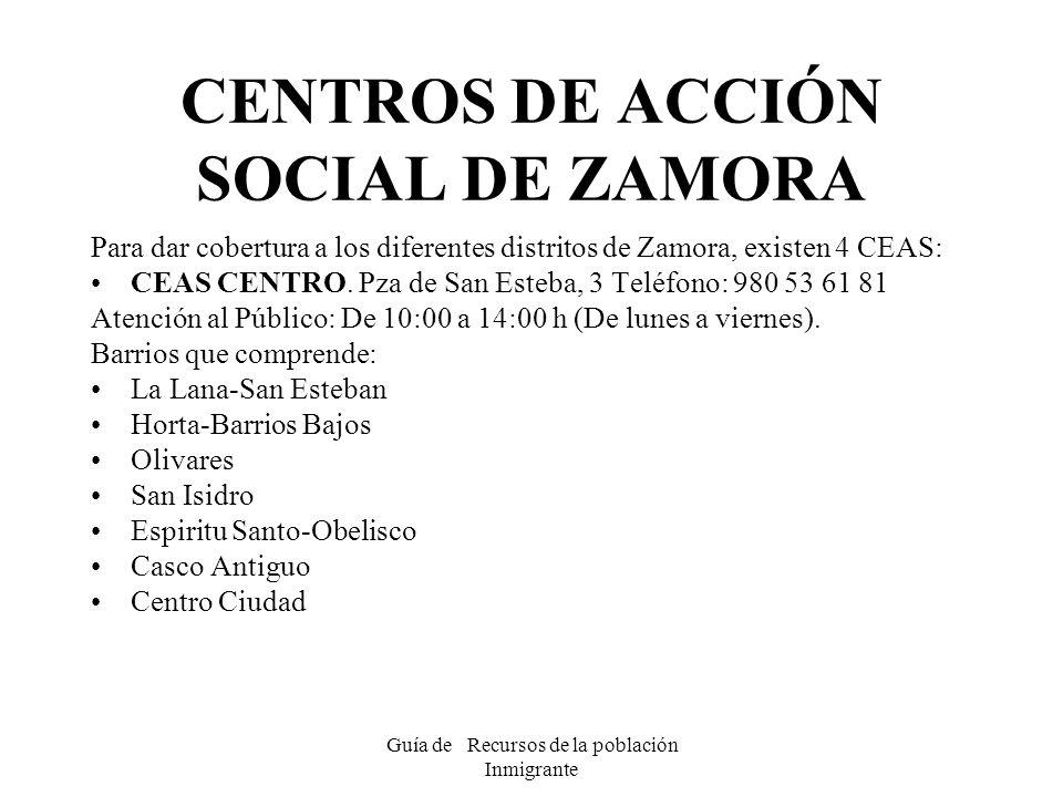 CENTROS DE ACCIÓN SOCIAL DE ZAMORA