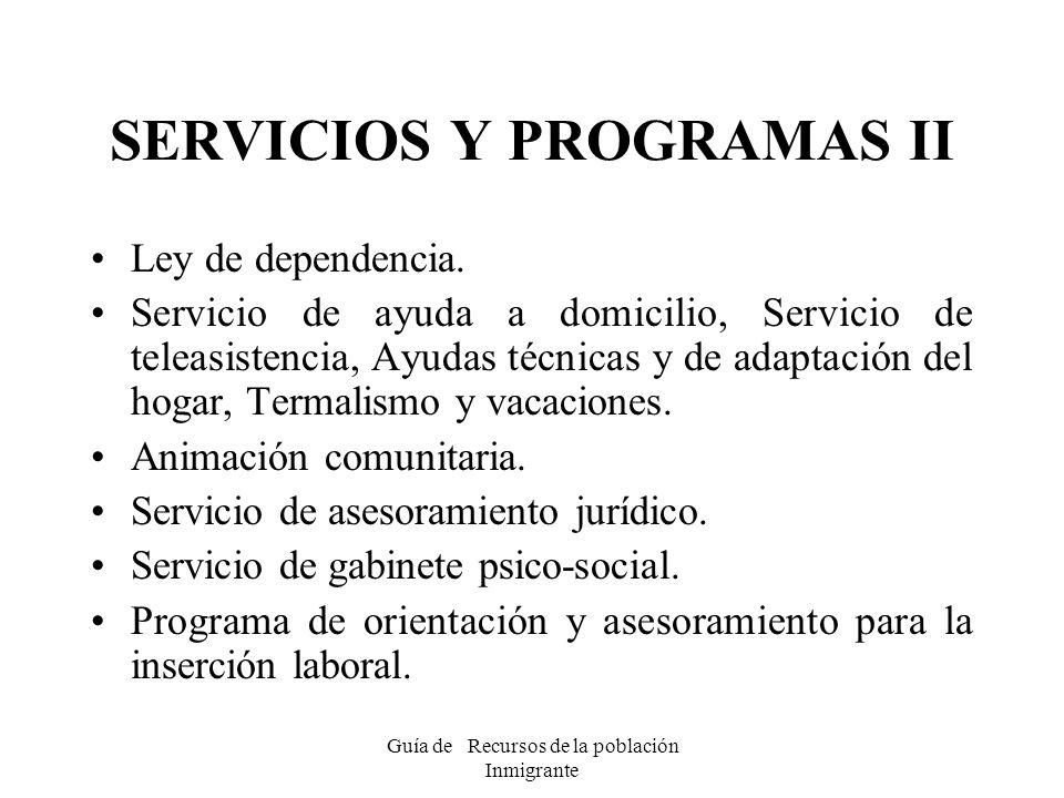 SERVICIOS Y PROGRAMAS II