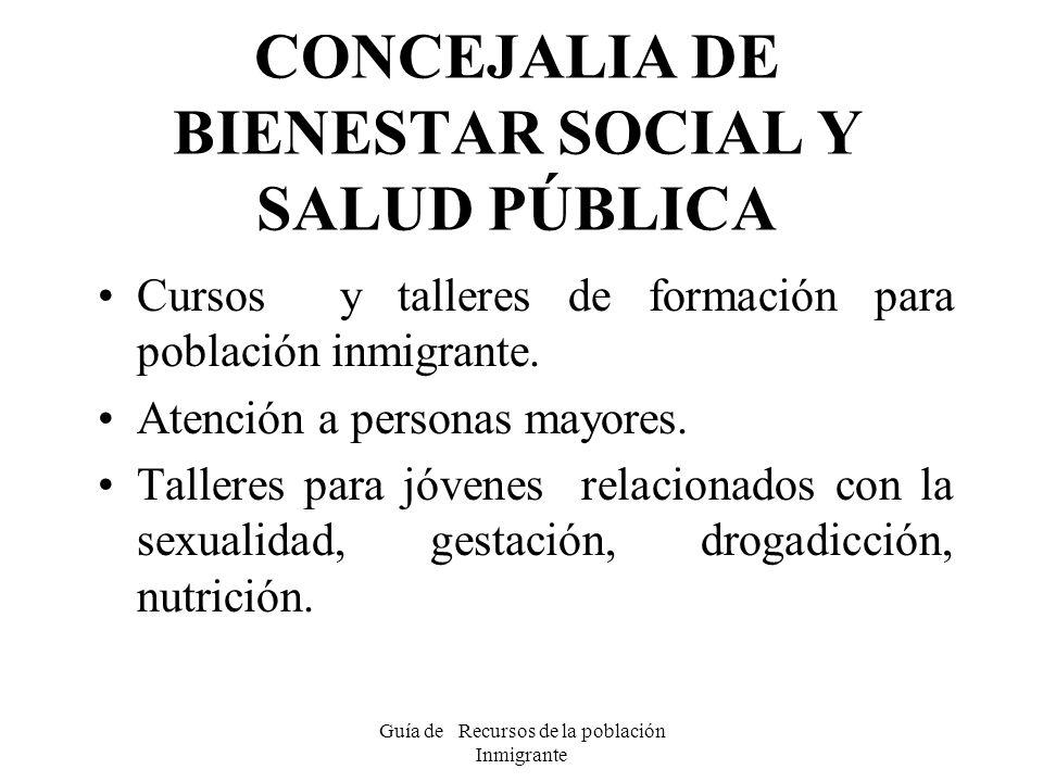 CONCEJALIA DE BIENESTAR SOCIAL Y SALUD PÚBLICA