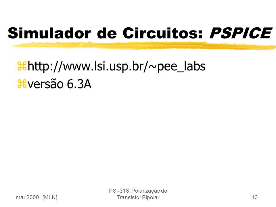 Simulador de Circuitos: PSPICE