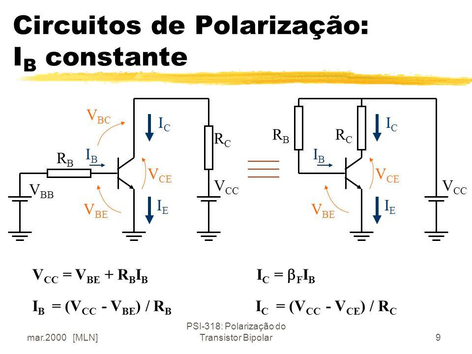 Circuitos de Polarização: IB constante