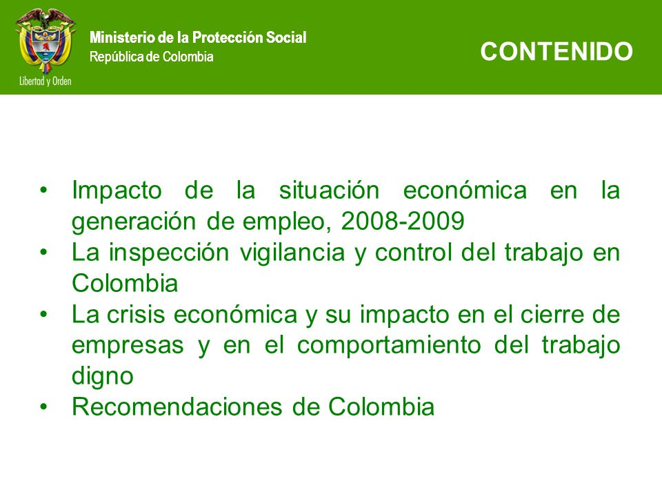 La inspección vigilancia y control del trabajo en Colombia