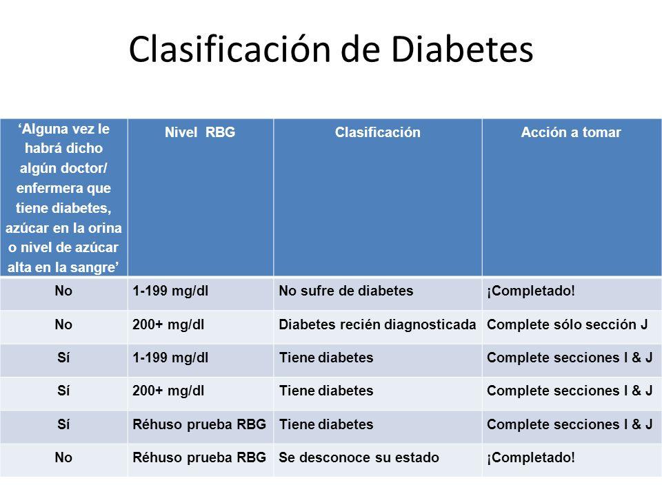 Clasificación de Diabetes