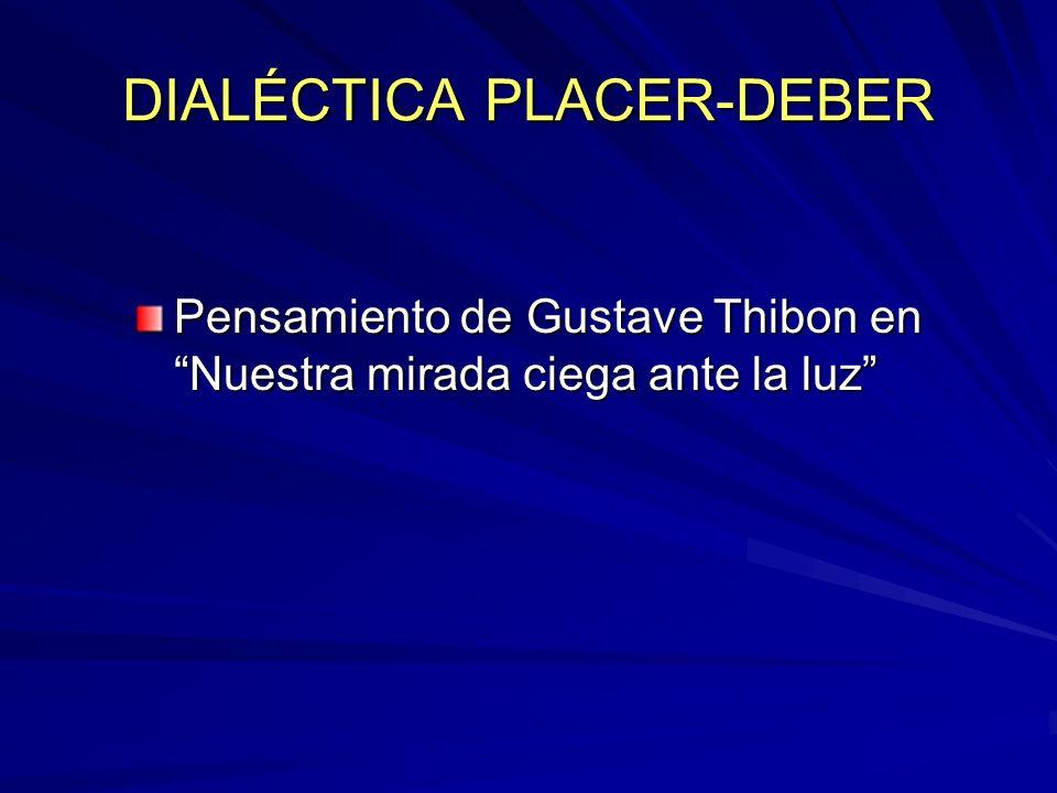 DIALÉCTICA PLACER-DEBER