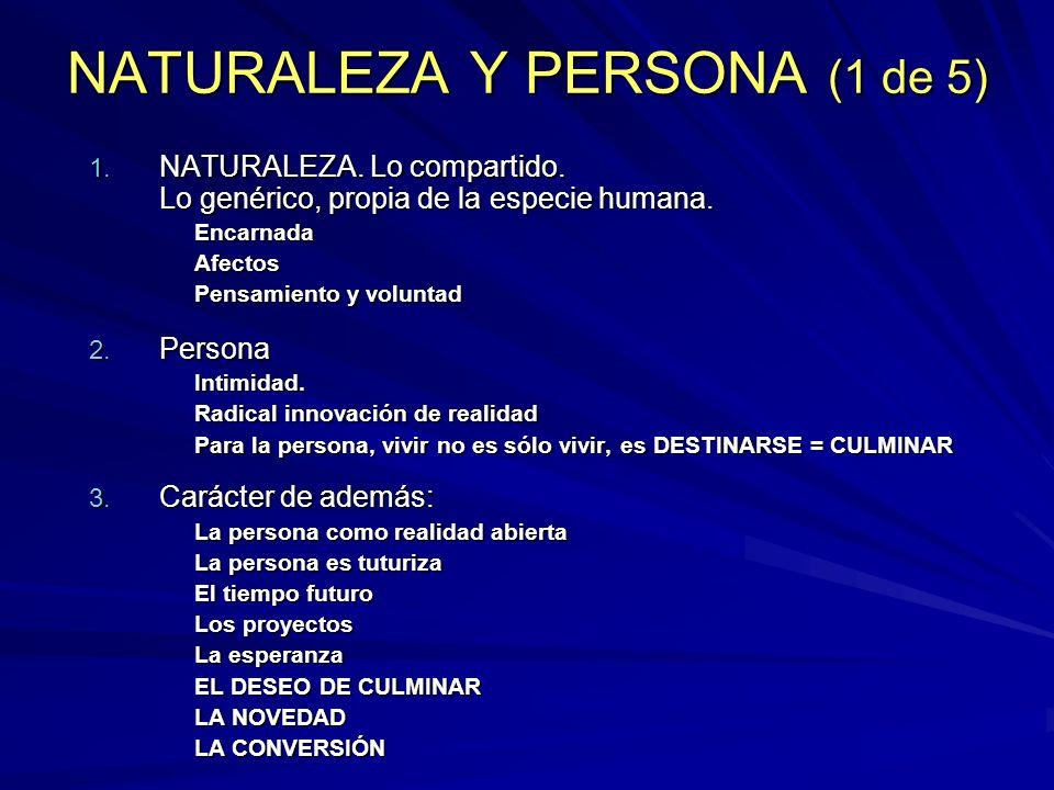 NATURALEZA Y PERSONA (1 de 5)