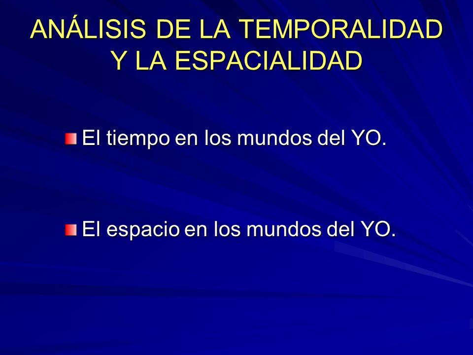 ANÁLISIS DE LA TEMPORALIDAD Y LA ESPACIALIDAD